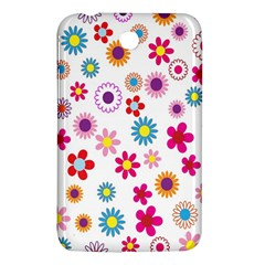 Colorful Floral Flowers Pattern Samsung Galaxy Tab 3 (7 ) P3200 Hardshell Case