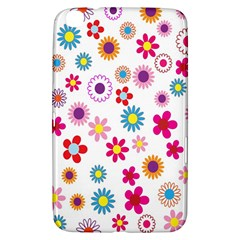 Colorful Floral Flowers Pattern Samsung Galaxy Tab 3 (8 ) T3100 Hardshell Case