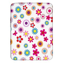Colorful Floral Flowers Pattern Samsung Galaxy Tab 3 (10.1 ) P5200 Hardshell Case