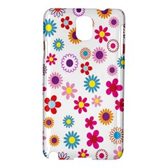 Colorful Floral Flowers Pattern Samsung Galaxy Note 3 N9005 Hardshell Case