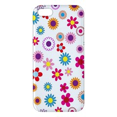 Colorful Floral Flowers Pattern iPhone 5S/ SE Premium Hardshell Case
