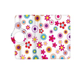 Colorful Floral Flowers Pattern Kindle Fire HD (2013) Flip 360 Case