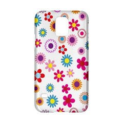 Colorful Floral Flowers Pattern Samsung Galaxy S5 Hardshell Case