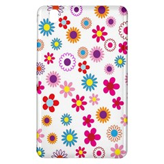 Colorful Floral Flowers Pattern Samsung Galaxy Tab Pro 8.4 Hardshell Case