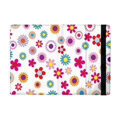 Colorful Floral Flowers Pattern iPad Mini 2 Flip Cases