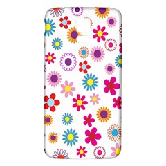 Colorful Floral Flowers Pattern Samsung Galaxy S5 Back Case (White)