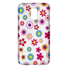 Colorful Floral Flowers Pattern Galaxy S5 Mini