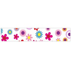 Colorful Floral Flowers Pattern Flano Scarf (large)