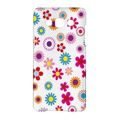 Colorful Floral Flowers Pattern Samsung Galaxy A5 Hardshell Case