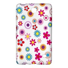 Colorful Floral Flowers Pattern Samsung Galaxy Tab 4 (8 ) Hardshell Case