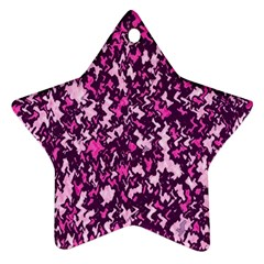 Chic Camouflage Colorful Background Ornament (Star)