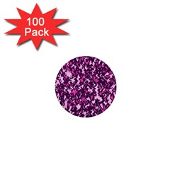 Chic Camouflage Colorful Background 1  Mini Buttons (100 pack)