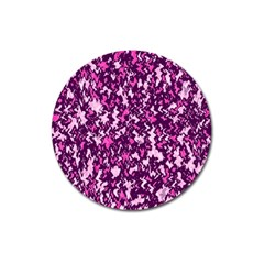 Chic Camouflage Colorful Background Magnet 3  (Round)