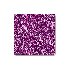 Chic Camouflage Colorful Background Square Magnet