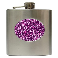 Chic Camouflage Colorful Background Hip Flask (6 oz)