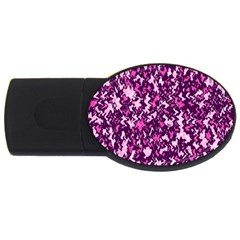 Chic Camouflage Colorful Background USB Flash Drive Oval (4 GB)