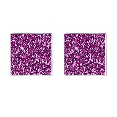 Chic Camouflage Colorful Background Cufflinks (Square)