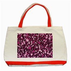 Chic Camouflage Colorful Background Classic Tote Bag (Red)