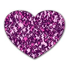 Chic Camouflage Colorful Background Heart Mousepads