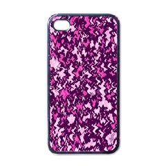 Chic Camouflage Colorful Background Apple iPhone 4 Case (Black)