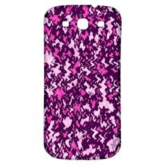 Chic Camouflage Colorful Background Samsung Galaxy S3 S III Classic Hardshell Back Case