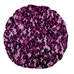 Chic Camouflage Colorful Background Large 18  Premium Round Cushions