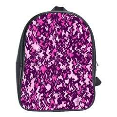 Chic Camouflage Colorful Background School Bags (XL)