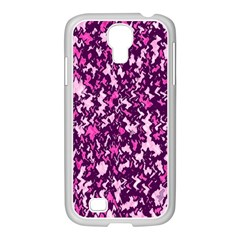 Chic Camouflage Colorful Background Samsung Galaxy S4 I9500/ I9505 Case (white)