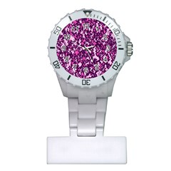 Chic Camouflage Colorful Background Plastic Nurses Watch