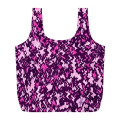Chic Camouflage Colorful Background Full Print Recycle Bags (L)