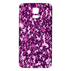 Chic Camouflage Colorful Background Samsung Galaxy S5 Back Case (White)
