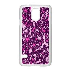 Chic Camouflage Colorful Background Samsung Galaxy S5 Case (White)