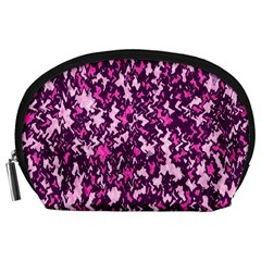 Chic Camouflage Colorful Background Accessory Pouches (Large)