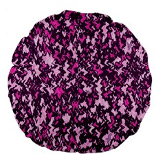 Chic Camouflage Colorful Background Large 18  Premium Flano Round Cushions