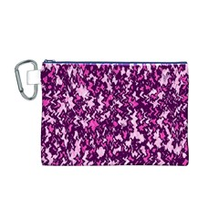Chic Camouflage Colorful Background Canvas Cosmetic Bag (M)