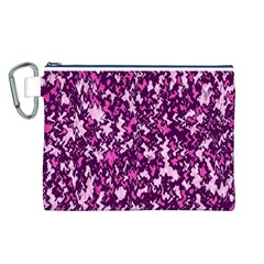 Chic Camouflage Colorful Background Canvas Cosmetic Bag (L)