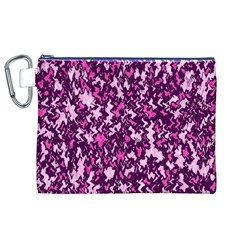 Chic Camouflage Colorful Background Canvas Cosmetic Bag (XL)