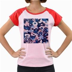 Fabric Wildflower Bluebird Women s Cap Sleeve T Shirt