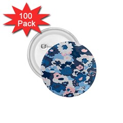 Fabric Wildflower Bluebird 1 75  Buttons (100 Pack)