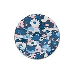 Fabric Wildflower Bluebird Magnet 3  (Round)
