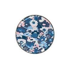Fabric Wildflower Bluebird Hat Clip Ball Marker (4 Pack)