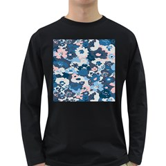 Fabric Wildflower Bluebird Long Sleeve Dark T Shirts