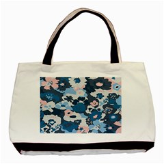 Fabric Wildflower Bluebird Basic Tote Bag