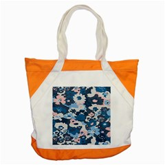 Fabric Wildflower Bluebird Accent Tote Bag