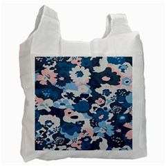 Fabric Wildflower Bluebird Recycle Bag (Two Side)