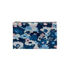 Fabric Wildflower Bluebird Cosmetic Bag (small)
