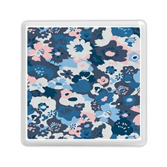 Fabric Wildflower Bluebird Memory Card Reader (square)