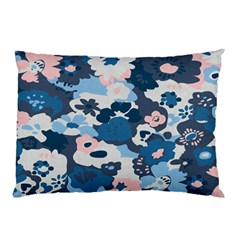 Fabric Wildflower Bluebird Pillow Case (Two Sides)