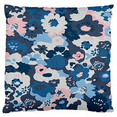 Fabric Wildflower Bluebird Large Cushion Case (Two Sides)