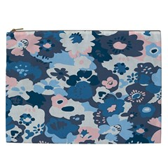 Fabric Wildflower Bluebird Cosmetic Bag (xxl)